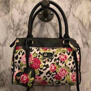 Betsey Johnson floral leopard shoulder bag